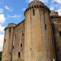Buy canvas prints of NUNNEY CASTLE by Helen Cullens