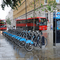 Buy canvas prints of BUSES & BORIS BIKES by Helen Cullens