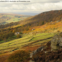 Buy canvas prints of TOWARDS CURBAR EDGE by Helen Cullens