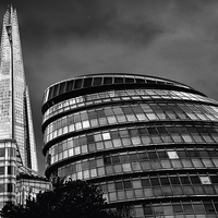 Buy canvas prints of THE SHARD & THE VISOR by Helen Cullens