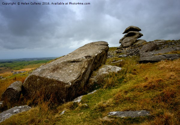 SHOWERY TOR                                 Canvas print by Helen Cullens