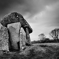 Buy canvas prints of Trethevy Quoit                                     by Helen Cullens