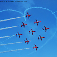 Buy canvas prints of red arrows love Heart by David Martin