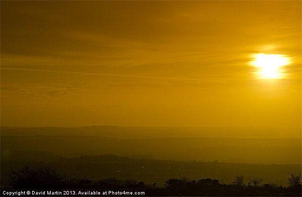 Sunset Canvas print by David Martin