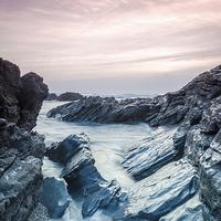 Buy canvas prints of  Sharrow Point Beach 2 by David Martin
