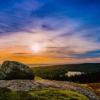 Buy canvas prints of Burrator sunset by David Martin