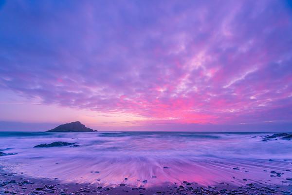 Wembury Sunset Canvas print by David Martin