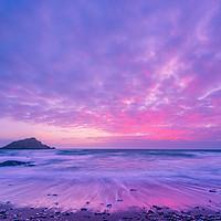 Buy canvas prints of Wembury Sunset by David Martin