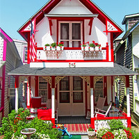 Buy canvas prints of Oak Bluffs Gingerbread Cottages (2) by Mark Sellers