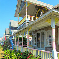 Buy canvas prints of Oak Bluffs Gingerbread Cottages (5) by Mark Sellers