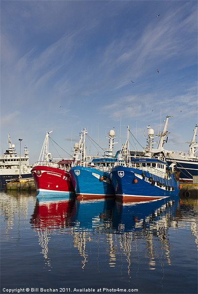 Fraserburgh Boat Colours Canvas print by Bill Buchan