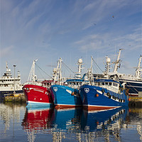 Buy canvas prints of Fraserburgh Boat Colours by Bill Buchan