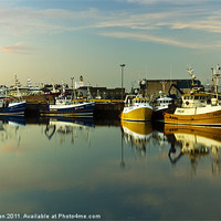 Buy canvas prints of Fraserburgh Yellow and Blue Boats by Bill Buchan