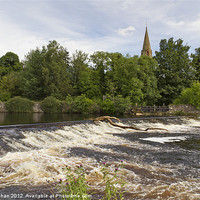 Buy canvas prints of River Ericht at Blairgowrie by Bill Buchan
