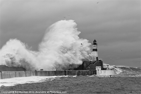 Fraserburgh Harbour Storm Photo Canvas print by Bill Buchan
