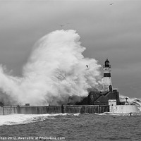 Buy canvas prints of Fraserburgh Harbour Storm Photo by Bill Buchan