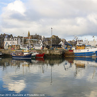 Buy canvas prints of Fraserburgh Harbour Scene Photo by Bill Buchan