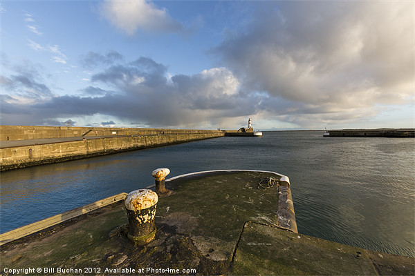 Fraserburgh Harbour Head Photo Canvas Print by Bill Buchan