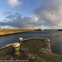 Buy canvas prints of Fraserburgh Harbour Head Photo by Bill Buchan