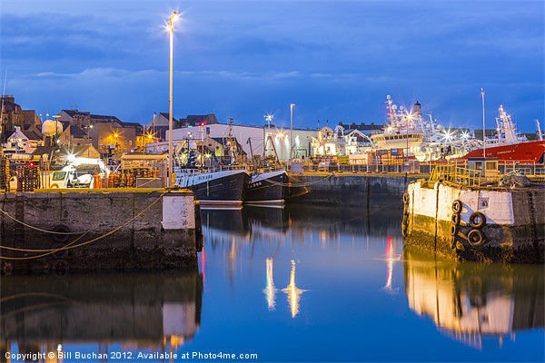 Fraserburgh Harbour Evening Scene Photo Canvas print by Bill Buchan