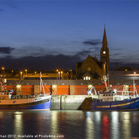 Buy canvas prints of Fraserburgh Harbour Evening Scene Photo by Bill Buchan