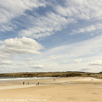 Buy canvas prints of Sandend Beach Photo by Bill Buchan