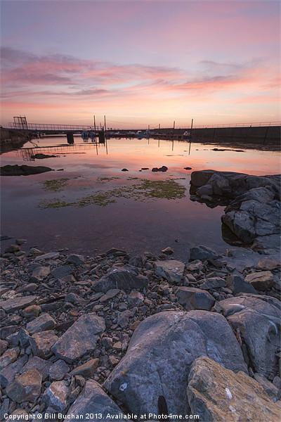 Sunset on the Rocks Canvas print by Bill Buchan