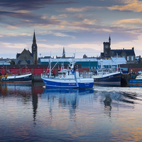 Buy canvas prints of  Fraserburgh, Home From The Sea by Bill Buchan