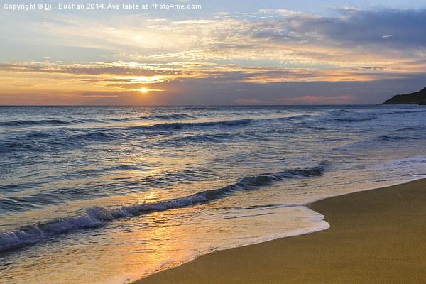 Glyfada Golden Sunset Canvas Print by Bill Buchan