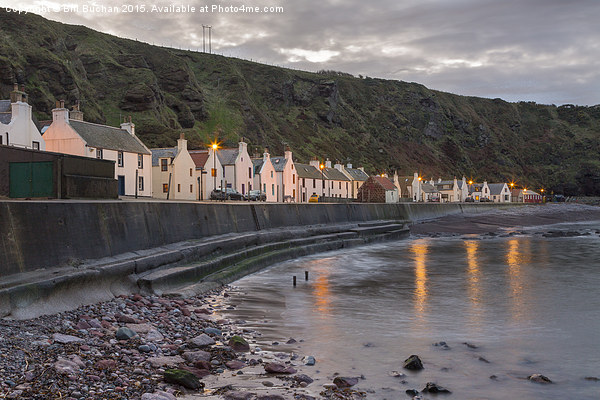 Pennan Cottages Canvas Print by Bill Buchan