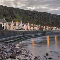Buy canvas prints of  Pennan Cottages by Bill Buchan