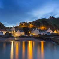 Buy canvas prints of  Pennan Harbour Starlights by Bill Buchan