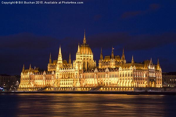 Hungarian Parliament Budapest Canvas print by Bill Buchan