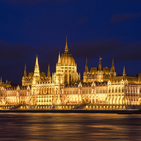Buy canvas prints of  Hungarian Parliament Budapest by Bill Buchan