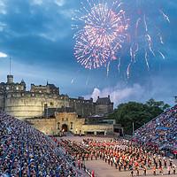 Buy canvas prints of Edinburgh Royal Military Tattoo 2016 by Bill Buchan