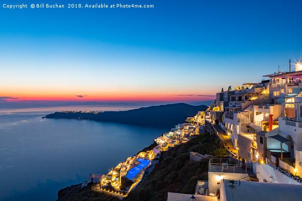 Santorini Sunset Canvas print by Bill Buchan