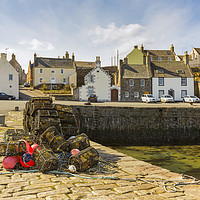 Buy canvas prints of Portsoy Creels at the Harbour by Bill Buchan