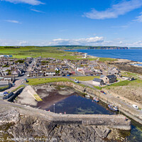 Buy canvas prints of Rosehearty Harbour and Coast Line by Bill Buchan