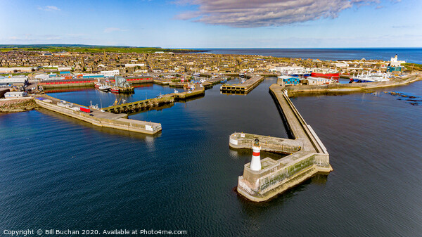 Fraserburgh Harbour From The Air Canvas Print by Bill Buchan