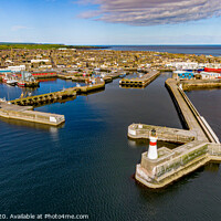 Buy canvas prints of Fraserburgh Harbour From The Air by Bill Buchan