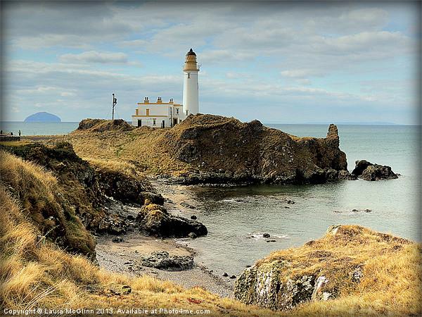 Turnberry Lighthouse Canvas print by Laura McGlinn Photography