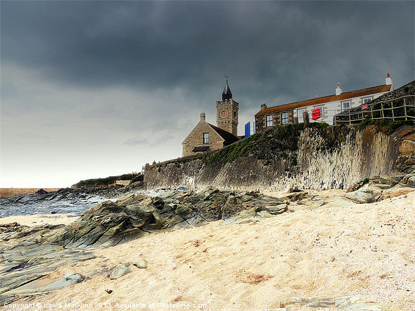 Porthleven Storm Canvas print by Laura McGlinn Photography