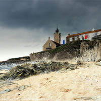 Buy canvas prints of Porthleven Storm by Laura McGlinn Photography