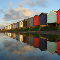 Buy canvas prints of Brightlingsea, Essex, Beach Huts by Chris Petty