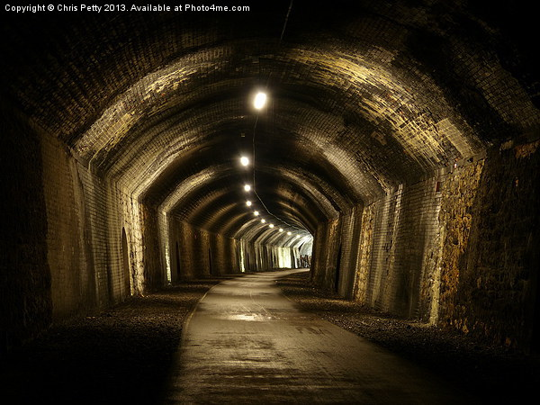 Chee Tor No 1 Tunnel, Derbyshire, Monsal Trail Canvas print by Chris Petty