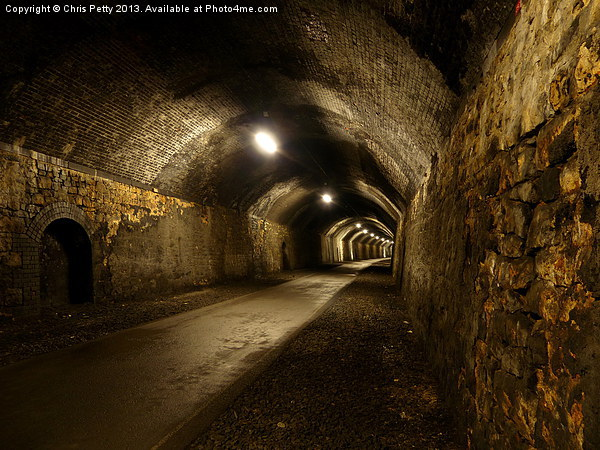 Chee Tor No 1 Tunnel, Derbyshire, Monsal Trail Canvas print by Chris Petty