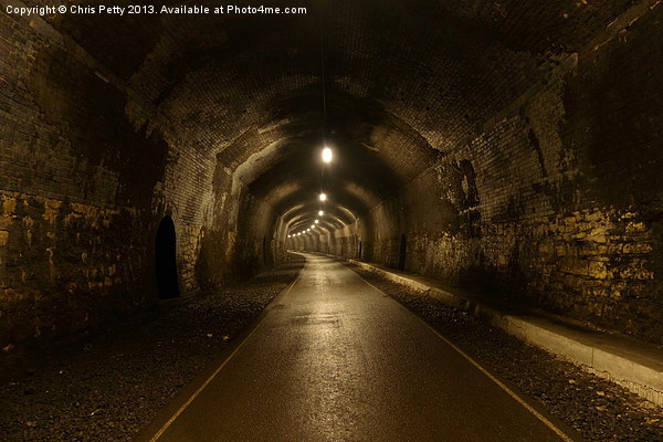 Headstone Tunnel, Derbyshire, Monsal Trail Canvas print by Chris Petty