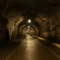 Buy canvas prints of Headstone Tunnel, Derbyshire, Monsal Trail by Chris Petty
