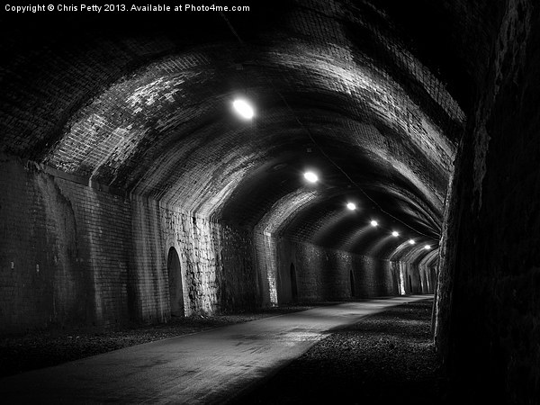 Chee Tor No1 Tunnel, Derbyshire, Monsal Trail Canvas print by Chris Petty