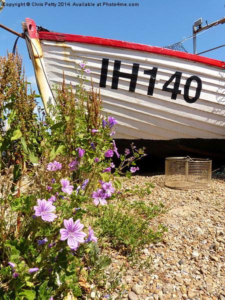 Aldeburgh, Suffolk, White Boat Canvas print by Chris Petty